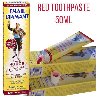 Email Diamant Red Cosmetic Whitening Toothpaste Paste Formule Rouge Original