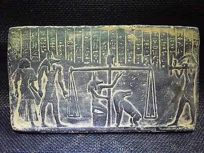 ANCIENT EGYPTIAN ANTIQUE Afterlife Judgement Plaque Stela Relief 1282-1254 BCE