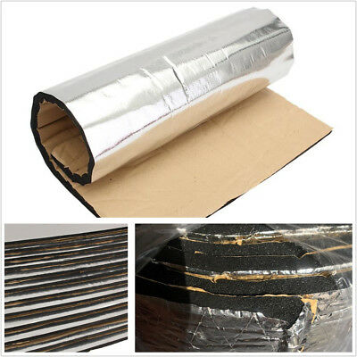 6 Sheets Silver Color Car SUV Sound Proofing Insulation Closed Cell Foam 40X40cm