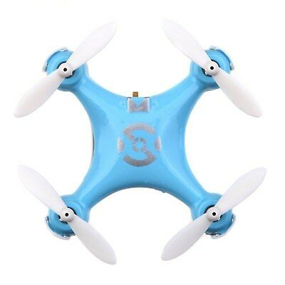 Cheerson CX 10 Mini 2.4G 4CH 6 Axis LED RC Quadcopter Toy Blue Low Voltage Alarm