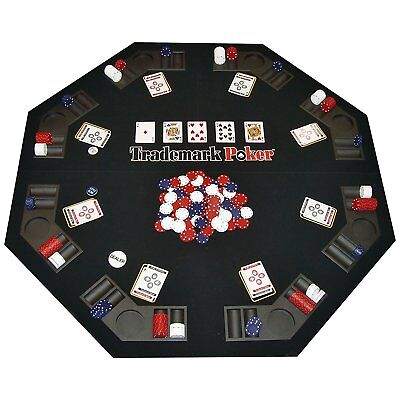 Trademark Texas Traveler Table Top 300 Poker Chip Travel Set Playing Game Cards