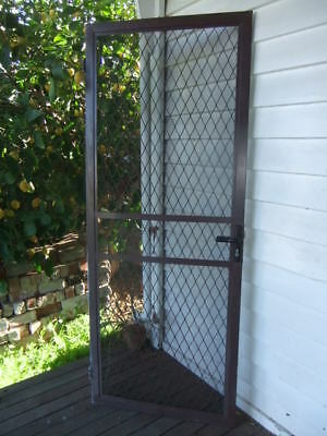 Solid Metal Aluminium Security Door 779 W x 2020 H Flywire Flyscreen Shed House