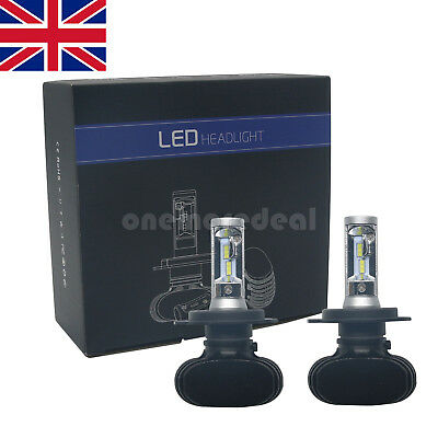 2x H4 138000LM CSP LED  Headlight Kit Light Bulbs High/Low  Beam Cool White UK