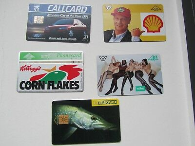 5 Used Foreign Phone Cards