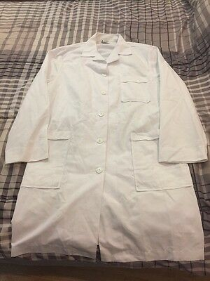 Meta Adjustable White Lab Coat Size 14 Bright White