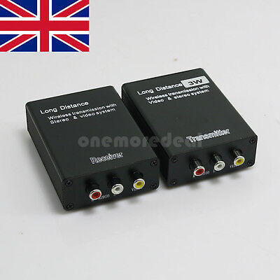 3W 12V Wireless Video Transmitter Receiver Monitor Long Distance TX RX UK SHIP