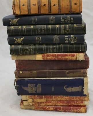Antique c.1900s Job Lot Set Of PUNCH + Science of Life + Outline of History -206