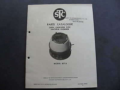 STC Canister Vacuum  817A PARTS CATALOGUE