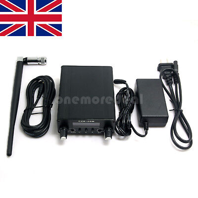 0.5W Stereo FM Transmitter Dual Mode Long Range Broadcast Audio Sender UK SHIP