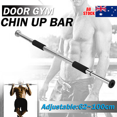Portable Exercise Doorway Cardio Chin UP Bar Iron Gym Home Fitness Exerciser AU