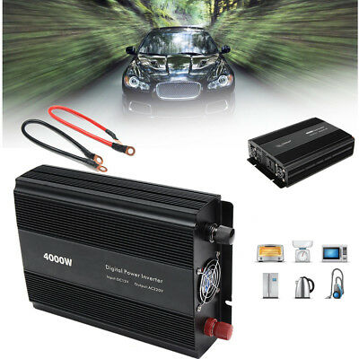 4000W Peak Modified Sine Wave Car DC12V To AC220V Power Inverter Converter