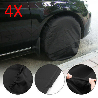 "4X Canvas Wheel Tire Covers for RV Auto Truck Car Camper Trailer to 32"" Diameter"