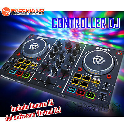 Numark Party Mix Controller Console Dj Completa Licenza Software Virtual Dj