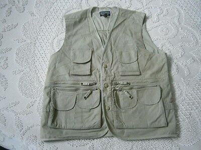 REX HUNT AUSTRALIAN ADVENTURES Mens Fishing Camping Hunting Vest Jacket! L