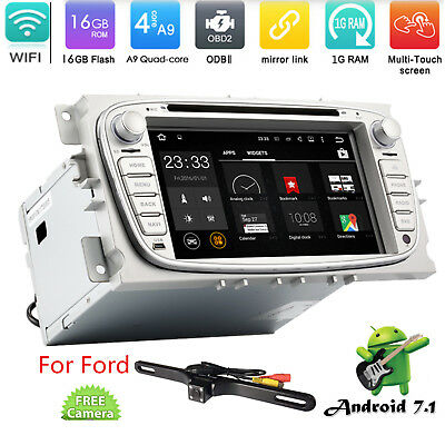 """7"""" Android 7.1 Car DVD Stereo Radio RDS GPS Wifi OBD2 For Ford Focus 2010-2011"""