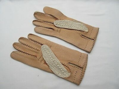 genuinely vintage / retro ladies small mens  driving gloves .