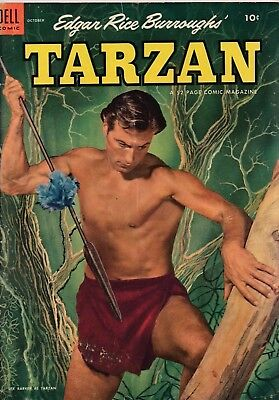 Edgar Rice Burroughs' Tarzan #49 1953 Golden Age Dell Comics Us Import