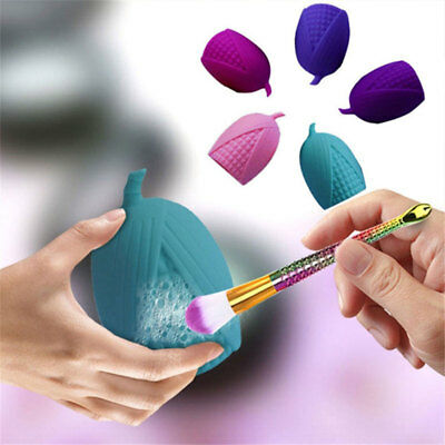 5Colors Corn-shaped Makeup Brushes Cleaner Silicone Cosmetic Brush Cleaning Too.