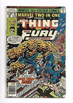 Marvel Two-in-one #  26 VG 4.0 Marvel Comics The Thing Nick Fury
