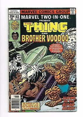 Marvel Two-in-one #  41 FN- 5.5 Marvel Comics The Thing Brother Voodoo