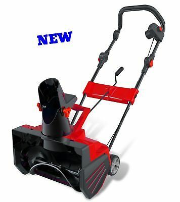 Electric Snow Thrower Blower Push Walk Behind Corded Clean Road Paths Driveways