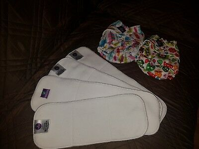 Prelived birth to potty reusable nappies and inserts Milovia
