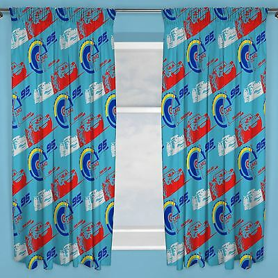 "Disney Cars 3 Lightning Mcqueen Curtains 66"" X 54"" Kids Curtains New"