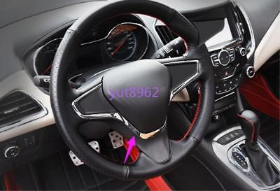 ABS Chrome Interior Steering wheel cover trim For Chevrolet Cruze 2017-2018