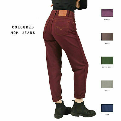 Vintage Coloured Levis High Waisted Mom Jeans 26 27 28 29 30 (Grade A)