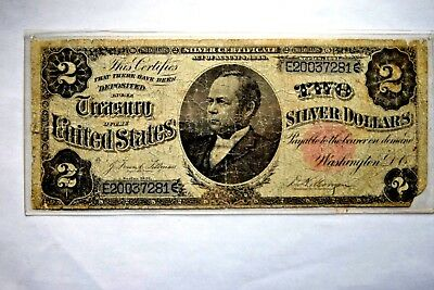 "FR. 246  Series of 1891 $2 TWO DOLLARS ""WINDOM"" SILVER CERTIFICATE"