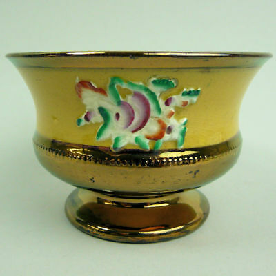 Victorian Antique Staffordshire Pottery Copper Lustre Bowl C.1850