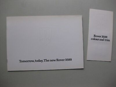 Rover 3500 prestige brochure Prospekt English 1976 + Colour and Trim Guide