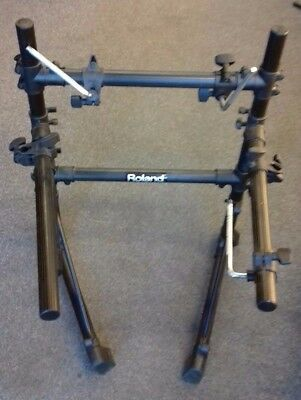 Roland drum frame (from TD3 electronic kit) with 3 drum clamps, 2 cymbal clamps