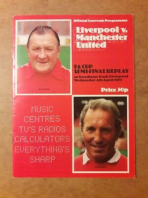 1979 LIVERPOOL v MANCHESTER UNITED : FA CUP SEMI FINAL REPLAY PROG@Goodison Park