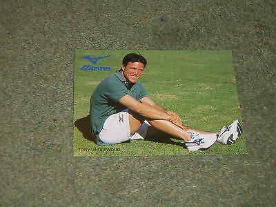Tony Underwood Leicester Tigers,Newcastle Falcons,England MIZUNO trade card