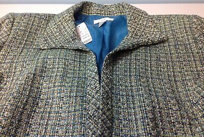 CJ Banks Career Women's Lined Blazer Jacket Lined Size 3X  Teal Green NWT