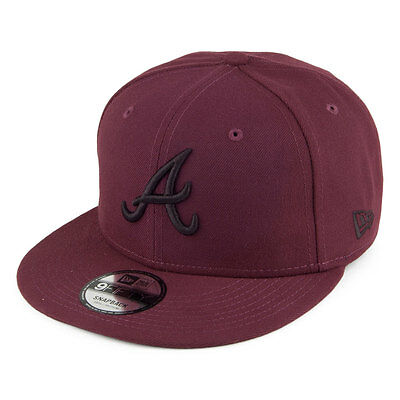New Era League Essential 950 Atlanta Braves Snap Back Cap Hat S/m M/l Maroon