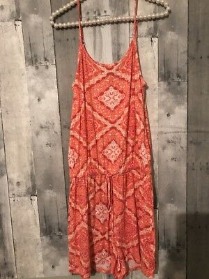 New With Tags Romeo & Juliet Couture Medium Romper Coral Shorts Sleeveless dress