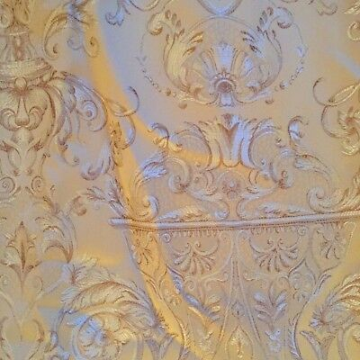 Venetian Pattern Damask Curtains, Very Nicely Lined
