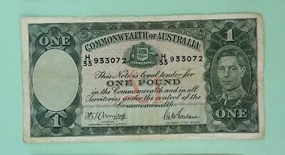 Australia KGVI Commonwealth of Australia 1 pound SN3072