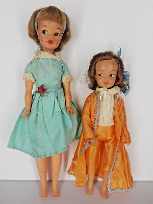 Vintage 1960's Ideal TAMMY Pos'n Pepper Dolls Lot of 2