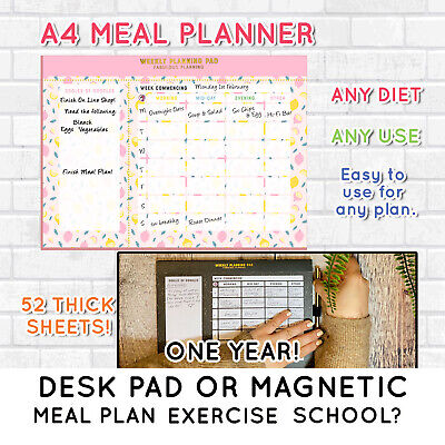 Meal Planner, Family, Plan,Easy, Notebook, Book,Full colour, Fun Cover,Slimming