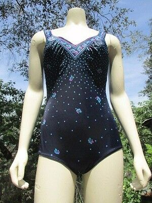 Vintage Maxine Of Hollywood Women's Black Spandex Nylon One Piece Swimsuit M