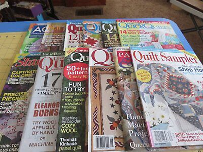 Group of 12 Quilting Magazines - Free Shipping
