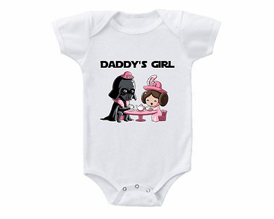 Adorable Star Wars Daddy's Girl Baby Shirt Infant Bodysuit