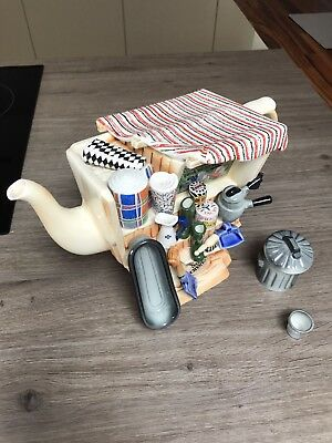 Cardew Collectable Novelty Lge Hardware Stall Teapot+Sugar Crate Perfect Condit
