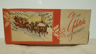 Lot of 17 Vintage Christmas Greetings Cards w/ box and envelopes 1950's - Unused