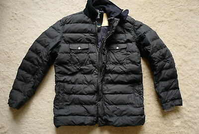Barbour Benthos quilted insulated coat XXL blue waxed cotton Brand new with tags