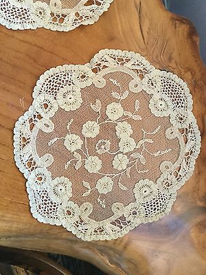 Antique Hand Stitched Brussels Lace Panels Price Is For One Item Only