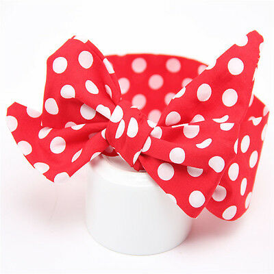 Headband Kids Girl Toddler Baby Bow Flower Hair Band Accessories Headwear Red